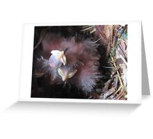 Alien Robins Greeting Card