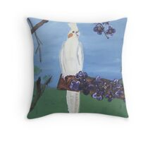 A Perching Cockatiel Throw Pillow