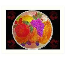 Fruit Pie Still Life Art Print