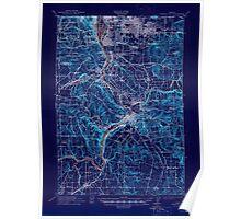 USGS Topo Map Oregon Oregon City 282777 1914 62500 Inverted Poster