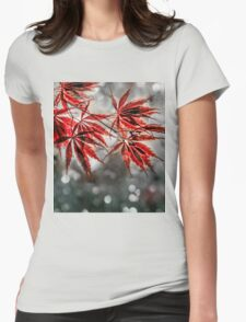 Japanese Red Maple Leaves  Womens Fitted T-Shirt