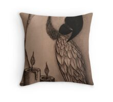 A memory in candle light Throw Pillow