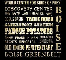 Boise Idaho Famous Landmarks by Patricia Lintner