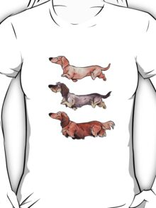 Teckels (color) T-Shirt