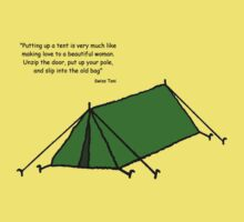 'Putting up a tent...' by Paul James Farr