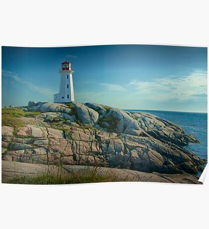 Lighthouse at Peggy's Cove No. 134 Poster