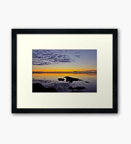 Coastal Sunrise. (21-5-11) Framed Print