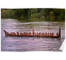 Maori Regatta in  Ngaruawahia, New Zealand  Poster