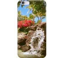 Waikiki waterfall, Honolulu iPhone Case/Skin