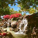 Waikiki waterfall, Honolulu by Bruno Beach