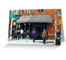 8th Ave. and W 22nd Street, Chelsea Greeting Card