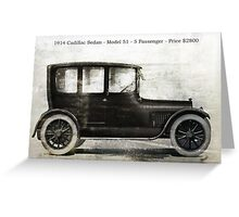 1914 Cadillac Sedan Greeting Card