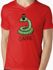 Snek Mens V-Neck T-Shirt