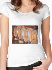 Stored Wine Barrels Women's Fitted Scoop T-Shirt