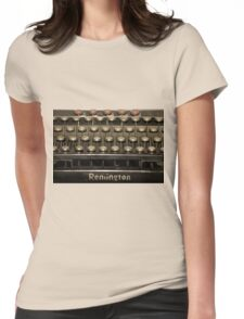 Old Typewriter Womens Fitted T-Shirt