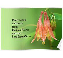 Grace to you ~ 2 Corinthians 1:2 Poster