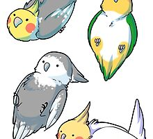 bird stickers by hydrofiend