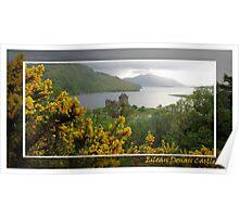 Eilean Donan Castle and gorse Poster