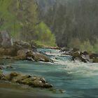 Oregon River Paintings by Karen Ilari by Karen Ilari