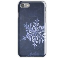 Snowflake in snow iPhone Case/Skin