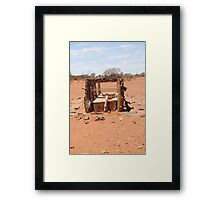 Outback stock trough Framed Print