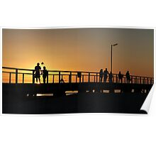 Semaphore Jetty Sunset Seascape Poster