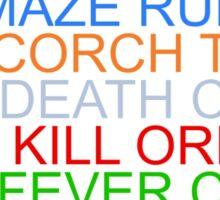 """The Maze Runner"" Series Sticker"