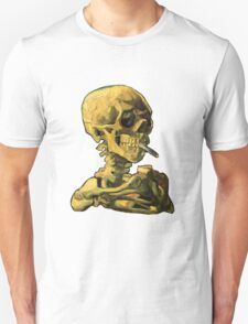 "Vincent Van Gogh - ""Skull of a Skeleton with Burning Cigarette"" Unisex T-Shirt"
