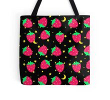 Black Strawberry Celestial Tote Bag