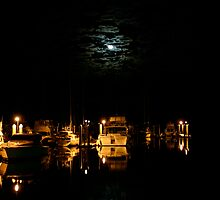 Outer Harbour Moon Light by Scott Schrapel