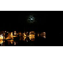 Outer Harbour Moon Light Photographic Print