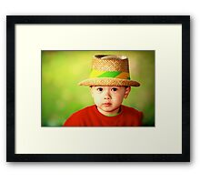 Smart Son Framed Print