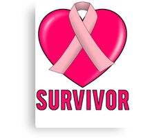 Breast Cancer Survivor Canvas Print