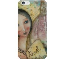 Florentine lady and the Brunelleschi Dome iPhone Case/Skin