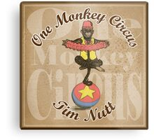 One Monkey Circus Metal Print