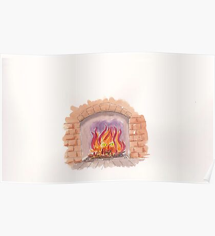 I dropped the tatty old book into the fire Poster