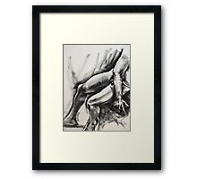 Legs and hand Framed Print