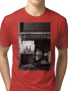 The lucky box and dark hole - Shanghai, China Tri-blend T-Shirt
