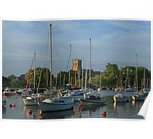 Summer Evening on the Stour Poster