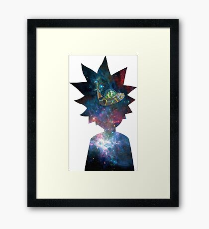 Rick and Morty Space Ship Framed Print