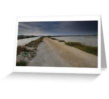 La strada che porta alle saline Greeting Card