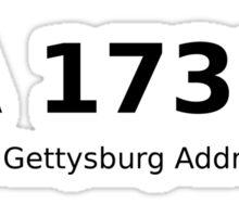 PA 17325 (The Gettysburg Address) Sticker