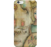 Pretty girl in Santo Spririto Florence iPhone Case/Skin