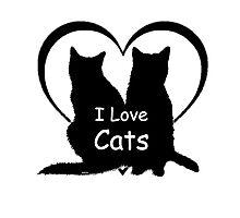 I love Cats Photographic Print
