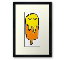 DEMON LOLLY YELLOW Framed Print