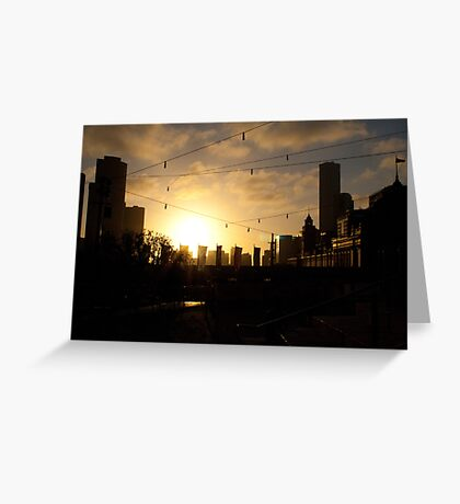 after glow Greeting Card