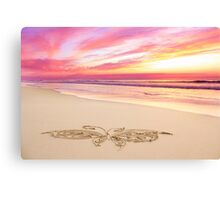 The Rose Quartz Butterfly Canvas Print