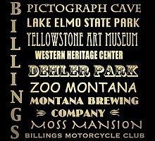 Billings Montana Famous Landmarks by Patricia Lintner