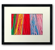 Colorful candies at the market Framed Print