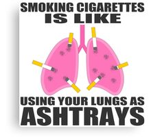 Ashtray lungs Canvas Print